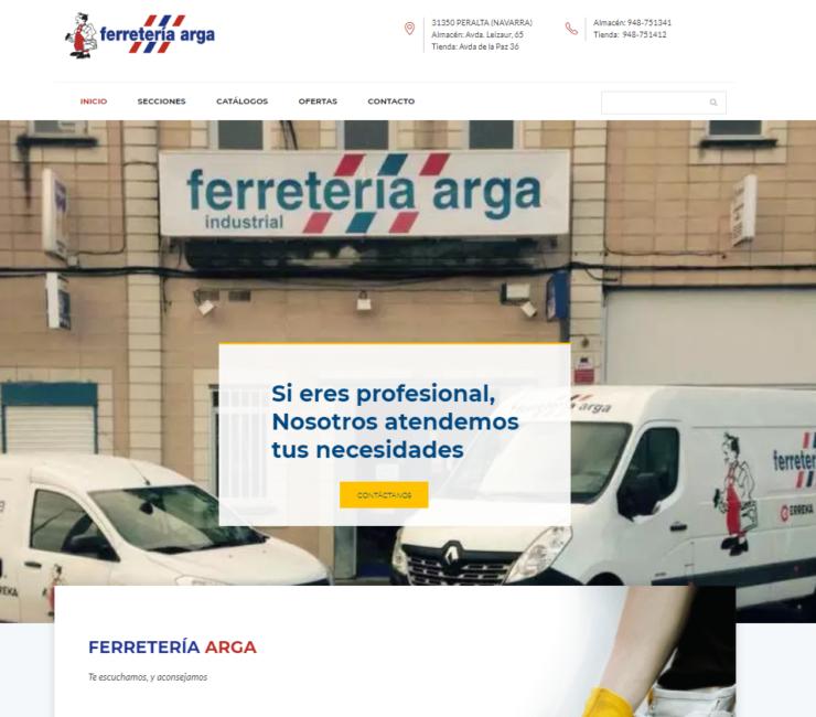 Nueva web Ferretería Arga